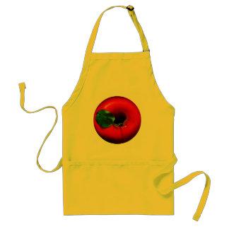 Red Apple Design Adult Apron
