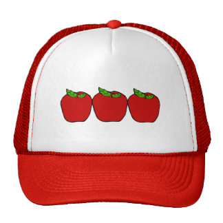 Red Apple Design Baseball Cap Mesh Hat