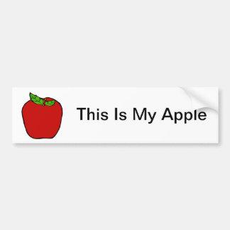 Red Apple Design Bumper Sticker
