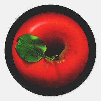 Red Apple Design Classic Round Sticker