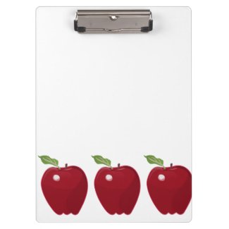 Red Apple Design Clipboard