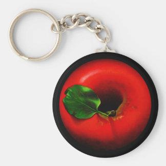 Red Apple Design Keychain