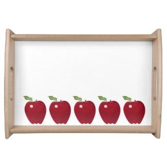 Red Apple Design Serving Platter