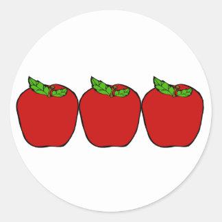 Red Apple Design Sticker