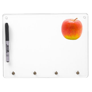 Red Apple Dry Erase Board With Keychain Holder