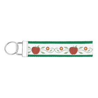 Red Apple Garland Wrist Key Chain