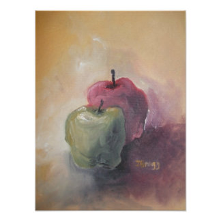 Red Apple Green Apple Poster