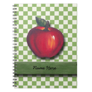 Red Apple Green Checks Notebook