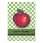 Red Apple Green Checks Personalized Invitation