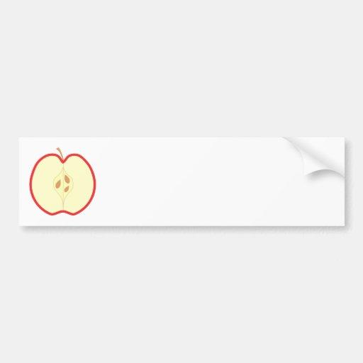 Red Apple Half. Bumper Sticker