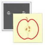 Red Apple Half. Button