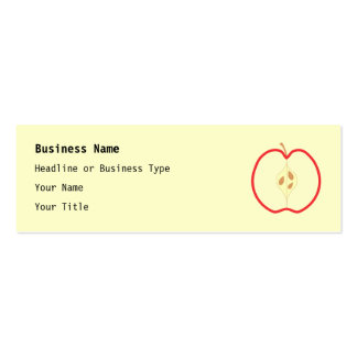 Red Apple Half, on cream background. Business Card