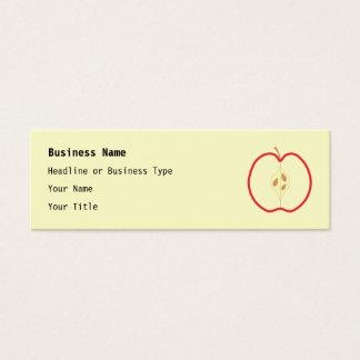 Red Apple Half, on cream background. Mini Business Card