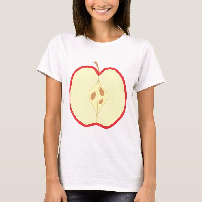 Red Apple Half. T-Shirt
