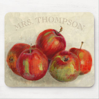 Red Apple Harvest Add Name Mouse Pad