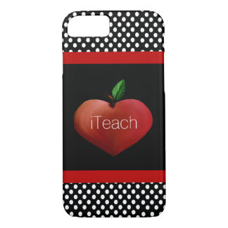 Red Apple Heart Teacher's iPhone 7 case