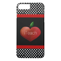 Red Apple Heart Teacher's iPhone 7 Plus case