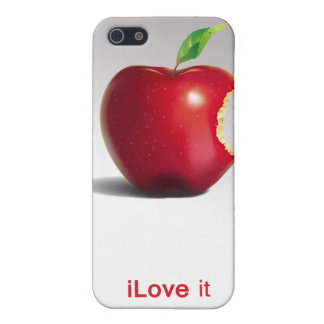 Red apple iLove it - iPhone 4 & iPhone 4s case