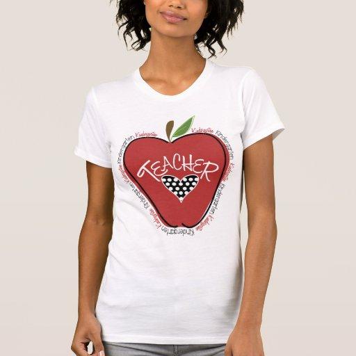 Red Apple Kindergarten Teacher Shirt