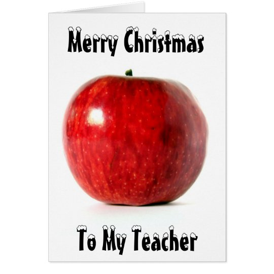 Red_Apple  Merry Christmas, To My Teacher Card