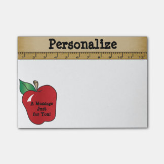 Red Apple Message for a Teacher Post-it® Notes