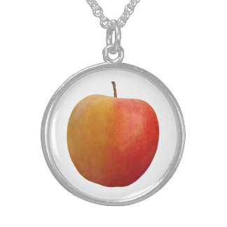 Red Apple Sterling Silver Necklace