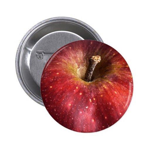 Red Apple on White 2 Inch Round Button