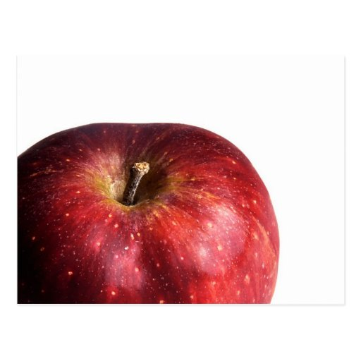 Red Apple on White Postcards