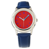 Red Apple Orchard Wrist Watch