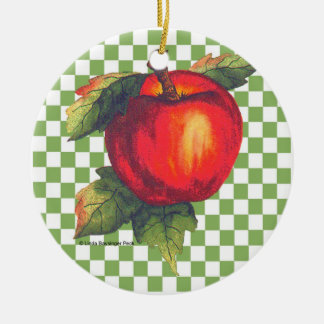 Red Apple Christmas Ornament