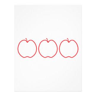Red Apple Outline. Flyer