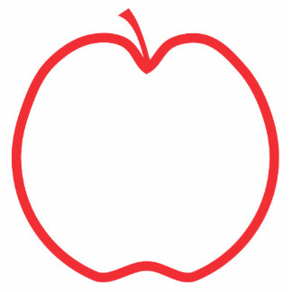 Red Apple Outline. Cut Outs