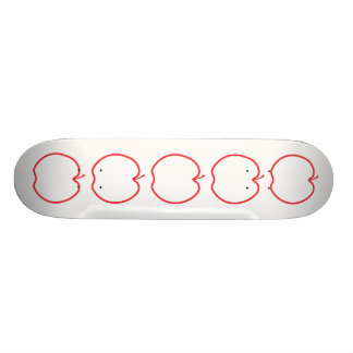 Red Apple Outline. Skate Deck