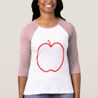 Red Apple Outline. T-Shirt