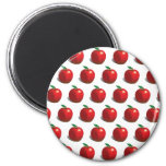 Red Apple Pattern 2 Inch Round Magnet