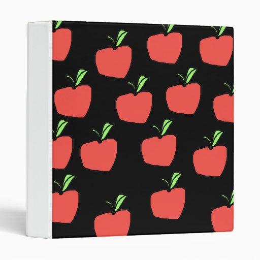 Red Apple Pattern. 3 Ring Binder