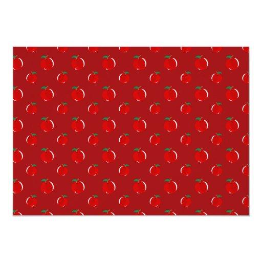 Red apple pattern 5x7 paper invitation card