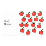 Red Apple Pattern. Double-Sided Standard Business Cards (Pack Of 100)