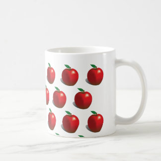 Red Apple Pattern Coffee Mug
