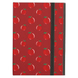 Red apple pattern iPad cases