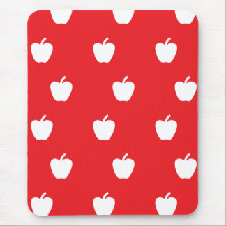 Red apple pattern mouse pad