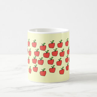 Red apple pattern, on cream. mug