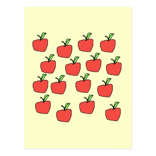 Red Apple Pattern. Postcard