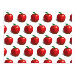 Red Apple Pattern Postcards