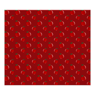 Red apple pattern poster