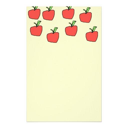 Red Apple Pattern. Stationery Design