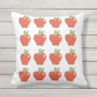 Red Apple Pattern Throw Pillow