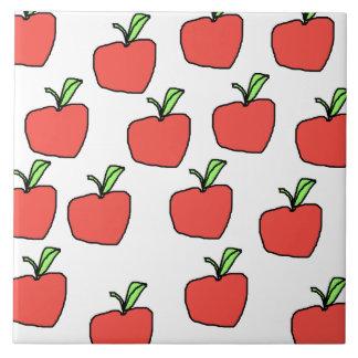 Red Apple Pattern. Tile