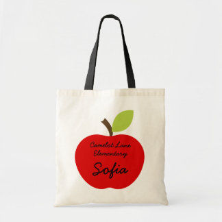 Red Apple Personalized Homeschool Book Bag