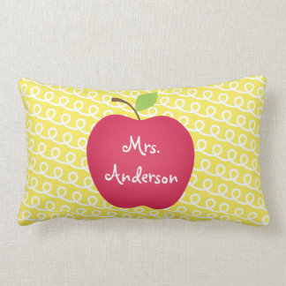 Red Apple Personalized Teacher's Lumbar Pillow